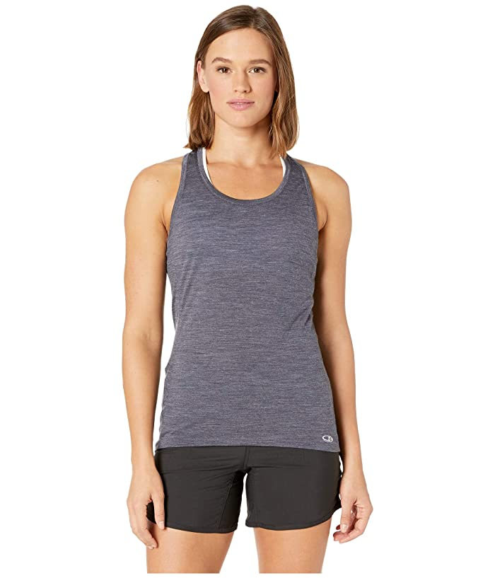 Icebreaker Amplify Merino Racerback Tank (Panther Heather/Cove Heather) Women