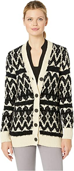 Diamond Fair Isle Cardigan Sweater