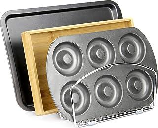 Plateau de cuisine et support de cuisson | Planche à découper, range-tout pour placard à pâtisserie | Support vertical chr...