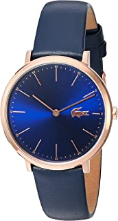 Lacoste Women's Blue Dial Leather Band Watch - 2000950, Analog Display