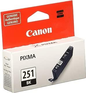 Canon CLI-251 Black Invidivudla Ink Tank, Compatible for MX922,iP8720,iX6820,MG7520, MG6420, MG5620, and MG5721 Printers