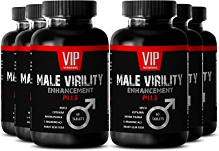 Libido Support - Male Virility Supplement with Muira Puama (6 Bottles 360 Tablets)