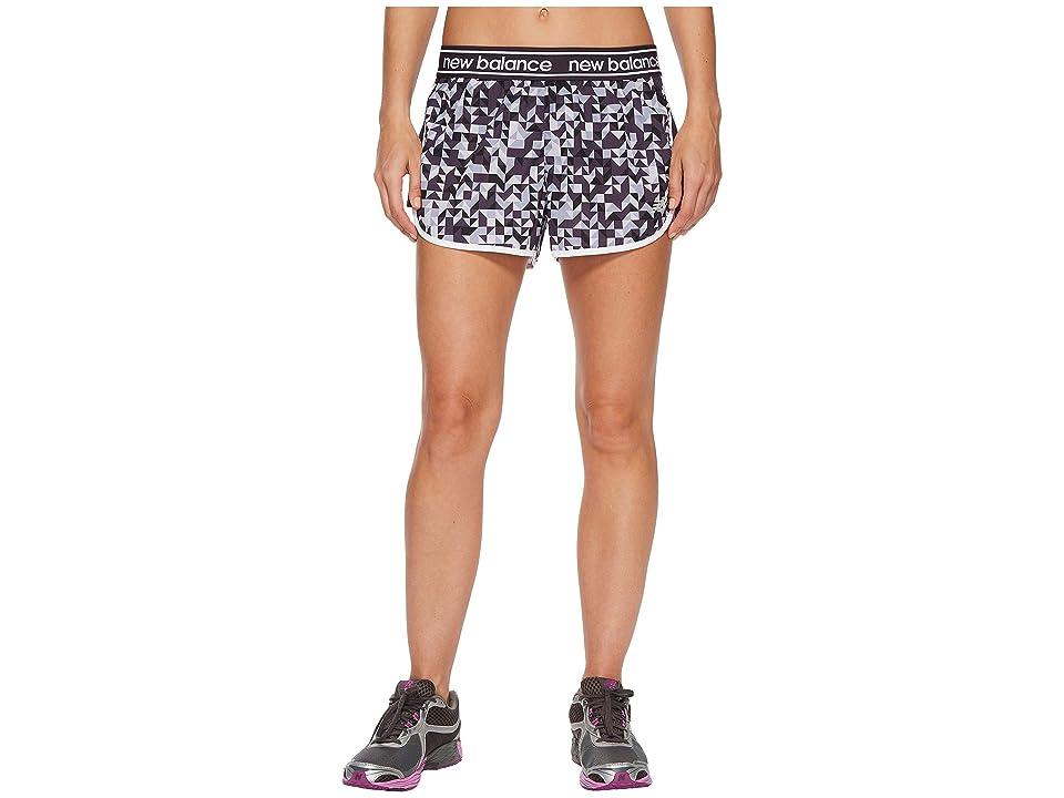 New Balance Printed Accelerate 2.5 Shorts (Elderberry/Triangle Confetti/Thistle) Women
