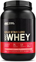 Optimum Nutrition Gold Standard 100% Whey Protein Powder, Strawberry & Cream, 2 Pound (Packaging May Vary)