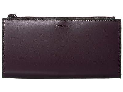 Lodis Accessories Audrey Kinsley Wallet (Deep Plum/Ivy) Handbags