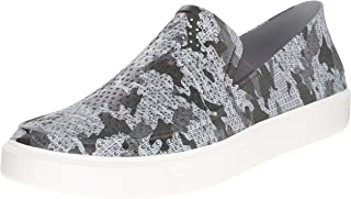 crocs Men's Citilane Roka Camo Slip-On M Flat, Graphite/White, 12 M US
