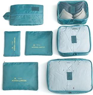 7 مجموعات صناديق التعبئة، منظمات الأمتعة للسفر مع حقيبة غسيل وحقيبة أحذية