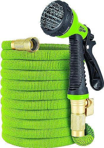 Flexi Hose Lime Green 75FT Hose w/Nozzle