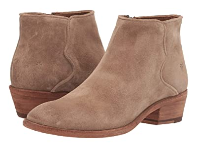 Frye Carson Piping Bootie (Beige Oiled Suede) Women