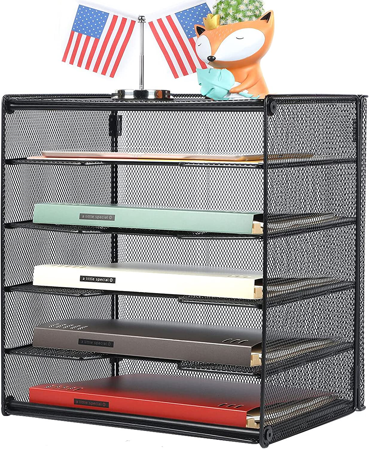 Veesun Paper Letter Tray Organizer Desk Discount online shopping mail order File Mesh wit