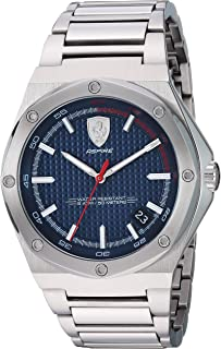 Ferrari Men's 'Aspire' Quartz 100 Stainless-Steel Watch, Color:Silver-Toned (Model: 0830530)