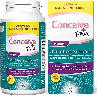 Conceive Plus Soporte de Ovulación, irregularidades hormonales, Myo-inositol, CoQ10, extracto de folato y jengibre, SOP 12...