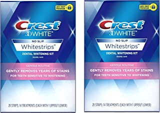 Crest 3D White Whitestrips Gentle Routine Teeth Whitening Kit, 14 Treatments, 2-Pack