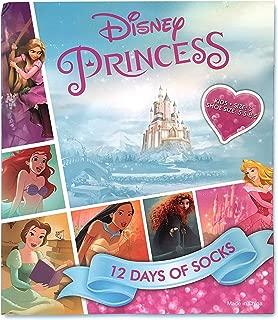 Stocking Stuffer Girls Disney Princess 12 Days of Socks Casual Socks