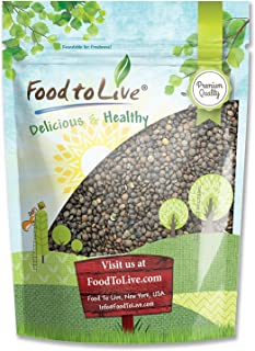 French Green Lentils, 3 Pounds - Whole Dry Beans, Raw, Kosher, Sproutable, Bulk
