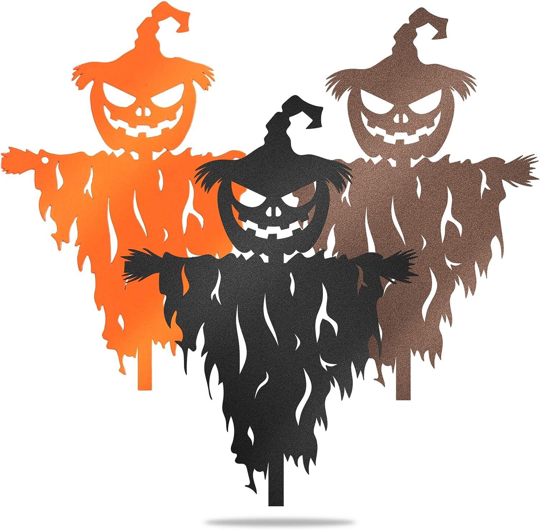 Redline Steel Scary Scarecrow Pumpkin Wall Art - Fall Home Decor