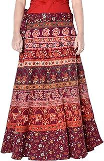 Sttoffa 36 Inch Length Wrap Around Womens Skirt Rajasthani Free Size Skirt D3