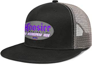 Soft Mesh Back Black Trucker Cap Hoosier-Racing-Tire-Logo-Men's Women's Cool Golf Hats