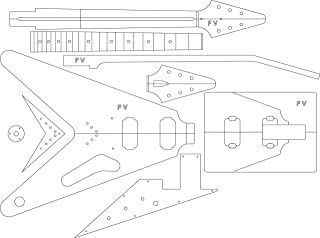 Electric Guitar Routing Template - '58 V