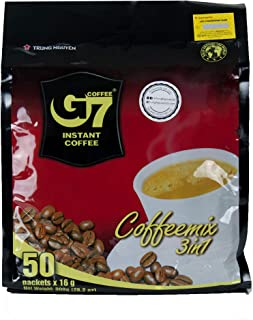 Trung Nguyen G7 3-in-1 Instant Premium Vietnamese Coffee, Coffeemix 50 Sachets x 16g (800kg)