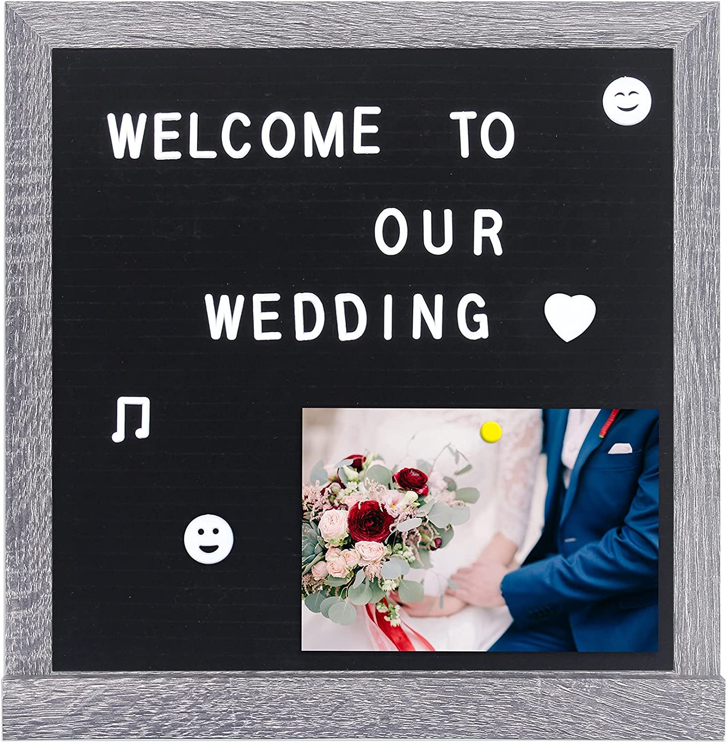 12×12 Inches Letter Board Limited Special Price with Frame Fe Vintage Max 51% OFF Stand USVANE