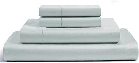 CHATEAU HOME COLLECTION 800-Thread-Count Egyptian Cotton Deep Pocket Sateen Weave Sheet Set, Ultimate Gift; Holiday Sale (Queen, Mineral)