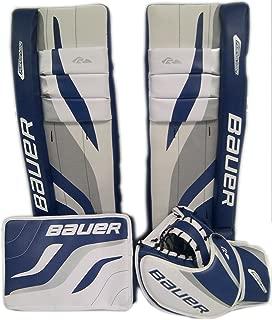 Bauer Reactor Street Hockey Goalie Kit – 27†(White/Blue, 27)