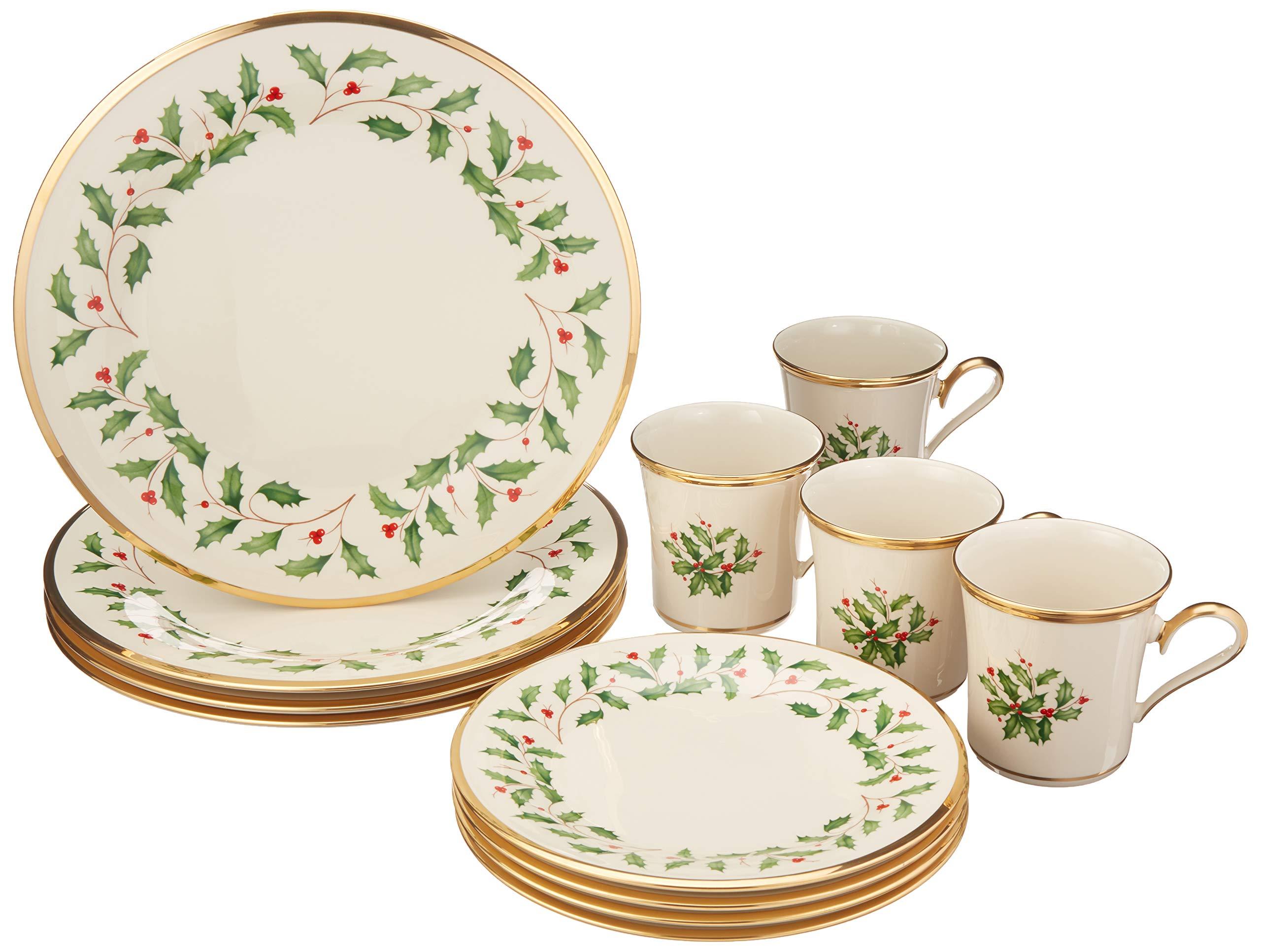 레녹스 홀리데이 컬렉션 그릇 및 세트 14종 Lenox Holiday 12-Piece Dinnerware Set