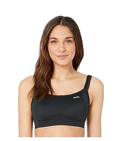 Brooks Fiona Medium-Impact Adjustable Sports Bra (B-DD)   Moving Comfort (Black) Women
