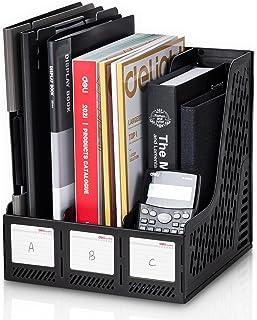 مجلدة المستندات الرأسية لحمل الملفات المكتبية من مجلة ديلي لتنظيم المكاتب، 3 حجرات داخلية، باللون الأسود