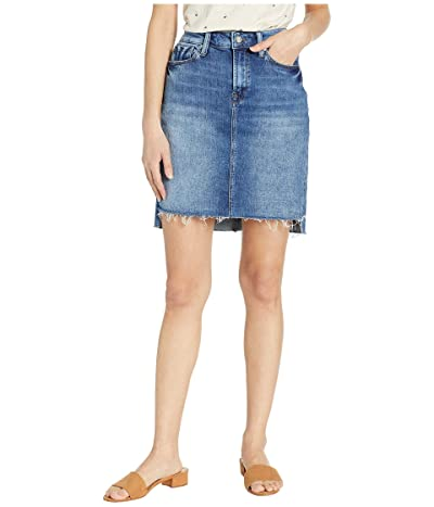 Mavi Jeans Mila Skirt in Mid Indigo Stripe (Mid Indigo Stripe) Women