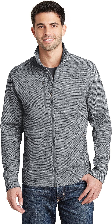 Port Authority Digi Stripe Fleece Jacket. F231 Grey