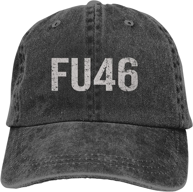Fu46 Trump Sports Baseball Cap Washable Trucker Hat Adjustable Sun Protection Cap (Male and Female) Black