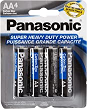 Panasonic 5734 16PC AA Batteries Super Heavy Duty Power Carbon Zinc Double A Battery 1.5V, Black (Pack of 16)