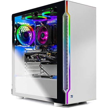 SkyTech Archangel 3.0 Gaming Computer PC Desktop - Ryzen 5 3600 6-Core 3.6GHz, RTX 2060 6G, 1TB SSD, 16GB DDR4 3000, RGB Fans, AC WiFi, Windows 10 Home 64-bit, White