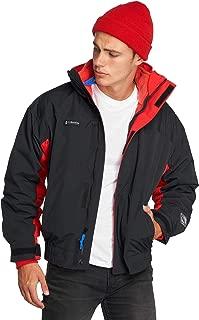 Mens Jacket Large Layered Full-Zip Colorblock