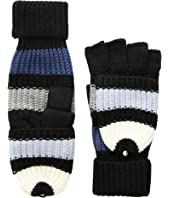 Kate Spade New York - Wide Stripe Pop Top Mitten