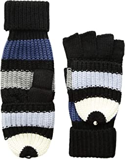 Wide Stripe Pop Top Mitten