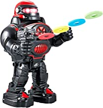 Remote Control Robot for Kids - RoboShooter Robot Toy for Boys & Girls Aged 5 6 7 8 (Black)