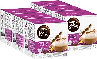 Nescafé Dolce Gusto Chai Tea Latte, Lot de 6, 6 x 16 Capsules (48 Portions)