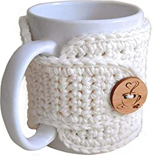 Crochet Mug Cozy in Cream