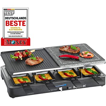 Princess 162810 Stone Grill Party – Raclette y parrilla para 4 ...