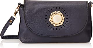 SHADOW Women's PU Leather Crossbody Sling Bag Phone Bag Mini Messenger Shoulder Travel Fashion Handbag Purse, Navy