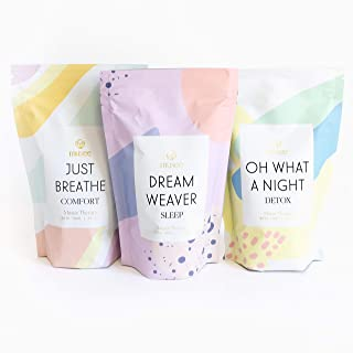 Musee Therapy Bath Soak Set - 3 Pack of All Natural Bath Salt with Refreshing Scents - Hand Made in USA, Paraben-Free & Su...