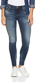 Armani Exchange Women's 5 Pocket Slim Pant, Indigo Denim