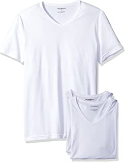 Emporio Armani mens Emporio Armani Men's Cotton V-neck T-shirt, 3-pack Undershirt