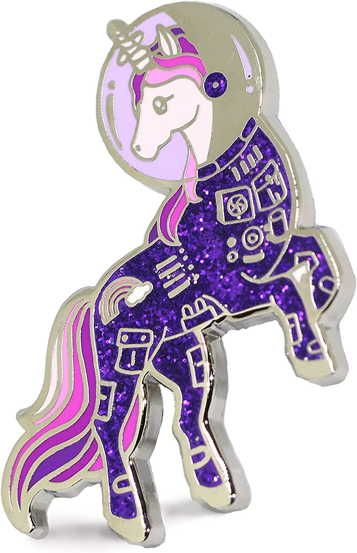 Unicorn Enamel Pin Astronaut Popular standard Purple Suit Space a In Classic Colo