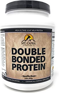 MT. CAPRA SINCE 1928 Double Bonded Protein | Whole Goat Milk Protein with Natural Blend of Casein and Whey from Grass-fed ...
