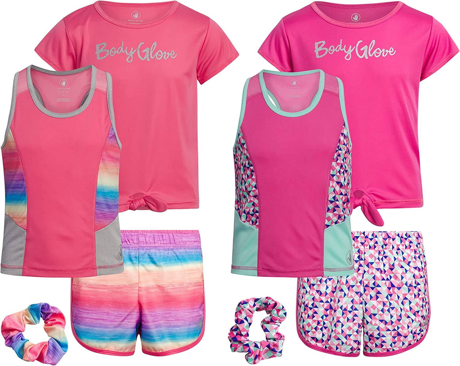 Body Glove Girls' Active Shorts Set T-Shirt Super sale period limited Tank - Top 6-Piece High material