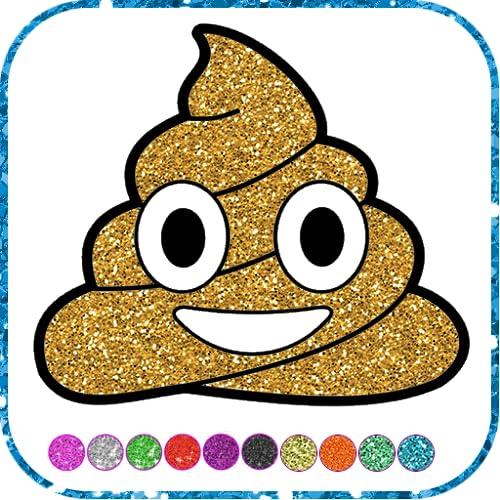 Emoji Coloring Glitter Games